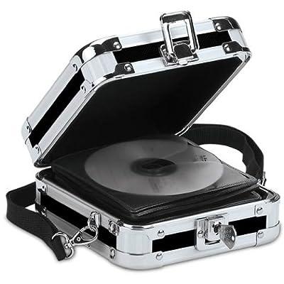 Vaultz Locking CD Wallet, 32 CD Capacity, 3.5 x 8.5 x 6.5 Inches, Black (VZ01103)