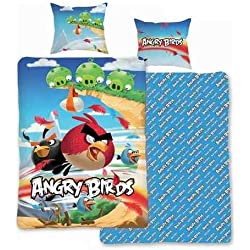 Lenzuola Angry Birds COOL 135 x 200 cm con Smartphone nuovo WOW - all-in-One-outlet-24-