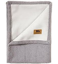 West Paw Design Big Sky Faux Suede/Silky Soft Pet Throw Blanket, Smoke, Small