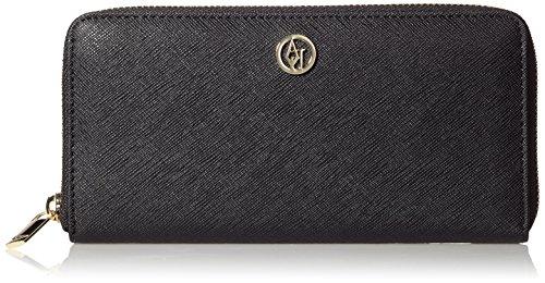 Armani Jeans Shoes & Bags De - 05V66A3, Portafoglio da donna, nero (nero - black 12), 19x9x2 cm (B x H x T)