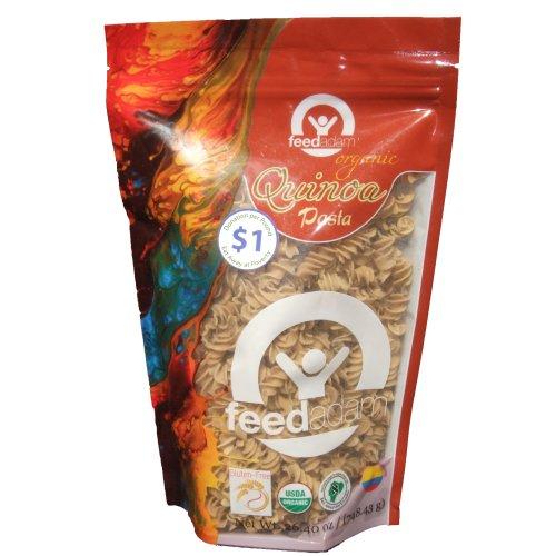 Feed Adam Organic, Naturally Gluten-free Quinoa Rotini Pasta 12 Oz. (Pack of 8)
