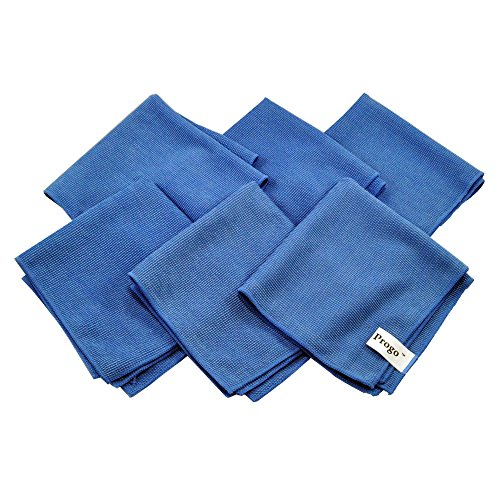 Progo Ultra Absorbent Microfiber Cleaning Cloths for LCD/LED TV, Laptop Computer Screen, iPhone, iPad and more. (6
