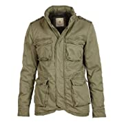 Selected Hommes - Weight Khaki Hooded Cotton Padded Jacket