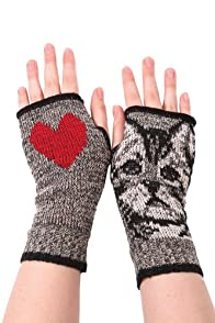 Green 3 Apparel Recycled Kitty Hand Warmers (Grey)