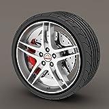 Chevrolet Epica Schwarz Rimblades Leichtmetallrad Edge Ring Anfahrschutz Reifen Tire Guard Rubber Zierleiste