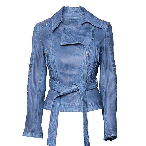 """Jacke """"Nizza"""" von MaraMahr aus weichem Lammleder für Damen in blau"""