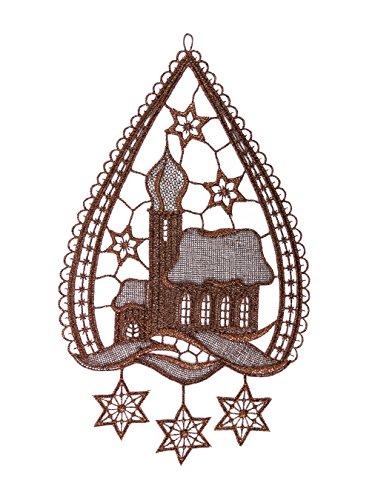 Luis fensterbild kirche weihnachtsdeko original plauener for Raumgestaltung krippe
