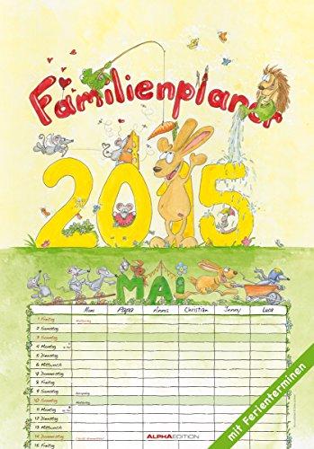 Familienplaner 2015 - Bildkalender (24 x 34) - mit Ferienterminen - 6 Spalten, Buch