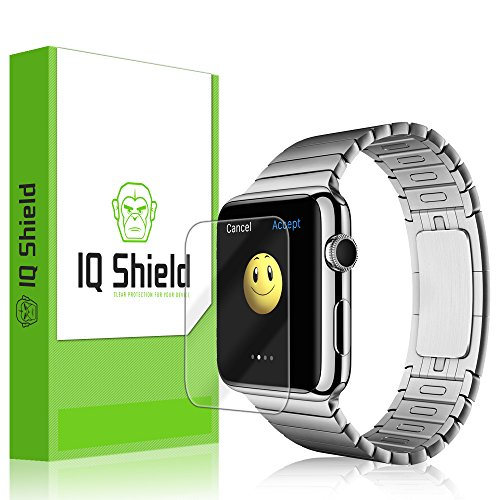 IQ Shield LiQuidSkin - [6-PACK] Apple Watch 38mm Screen Protector with Lifetime Replacement Warranty - High Definition (HD) Ultra Clear Smart Film - Premium Protective Screen Guard - Extremely Smooth / Self-Healing / Bubble-Free Shield - Kit comes in