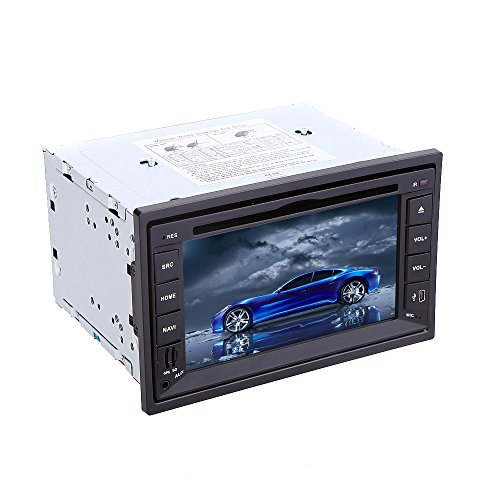 KKmoon  6.2インチ ユニバーサル カーDVD / USB / SDプレーヤー 3G WiFi Bluetooth GPS ラジオ機能付き【並行輸入品】