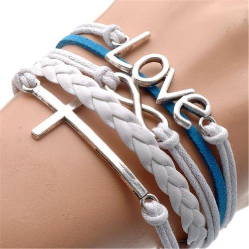 Humasol Womens Fashion Knit Charm Retro Suede Bracelet Gift