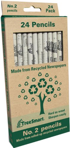 Image of Recycled Newspaper Pencils - Set of 24