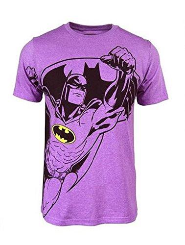 Batman Mens Neon Purple Heather Tee