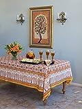 Orange Blossom ~ Persian Mediterranean Floral Print Tablecloth 70x90