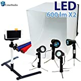 "LimoStudio Table Top Photography Studio Lighting Light Tent Kit In A Box - 1x 24"" Photo Tent, 4x Light Kits, Camera..."