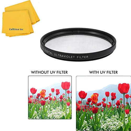 55Mm Uv Protective Multi-Coated All-Purpose Filter For Sigma Zoom Normal-Telephoto 55-200Mm F/4-5.6 Dc Lenses + Ct Microfiber Cleaning Cloth
