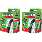"Slime Smart Tube Schrader Valve Bicycle Tube (24"" X 1.75 to 2.125), 2 Pack"
