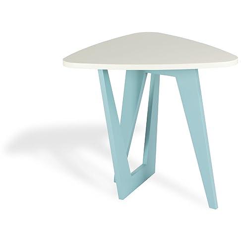Microstudio - Viceversa: tavolino triangolare da caffè design minimal, legno.