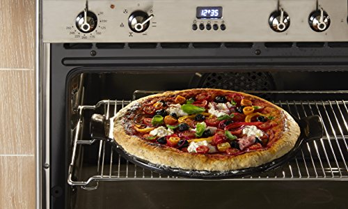 emile henry made in france flame top pizza stone black perfect for pizzas or breads in the. Black Bedroom Furniture Sets. Home Design Ideas
