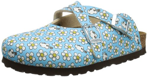 Birki Girls DORIAN BF DD MINNIE Clogs And Mules Blue Blau (FLOWER PATTERN BLUE) Size: 8.5 (26 EU)