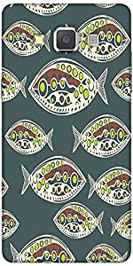Snoogg Seamless Pattern Of Fish Abstract Texture Designer Protective Back Cas...