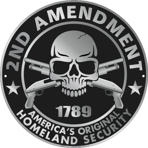 Second Amendment America&#8217;s Original Homeland Security Metal Sign 12&#8243;