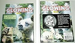 Glow In The Dark Stick Up Bears For Walls & Ceilings