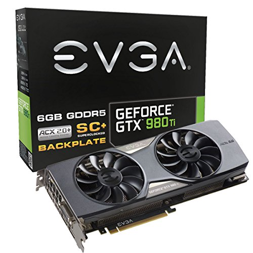 EVGA GeForce GTX 980 Ti Super Clocked Gaming ACX 2.0 6GB GDDR5 384bit PCI-E Graphic Card (06G-P4-4995-KR)