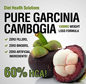 Best Garcinia Cambogia Pure Garcinia Cambogia 1300mg Per Serving With 60 Hca One Month Supply by Diet Health Solutions