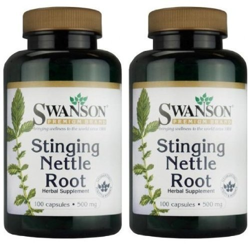Swanson-Premium-Brand-Stinging-Nettle-Root-500mg-2-Bottles-each-of-100-Capsules