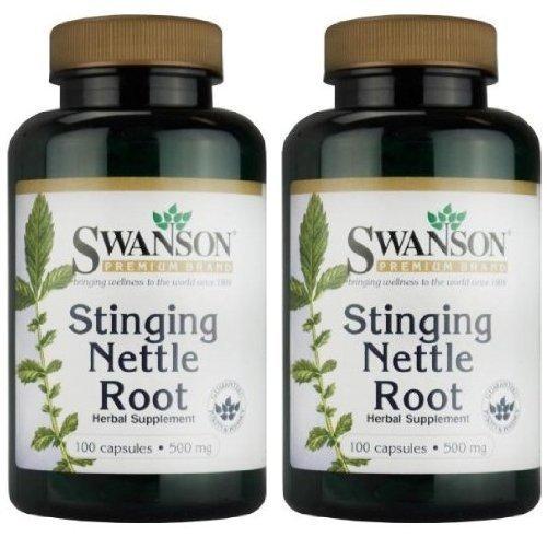 Swanson-Premium-Brand-Stinging-Nettle-Root-500mg-2-Bottles-each-of-100-Capsules