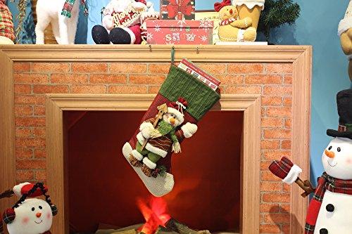 Moonmini 3d weihnachten deko geschenk verpackung socken dekoration gro h ngend sack zum - Fensterbank setzen ...