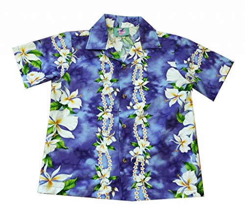 Jade Fashions Inc. Aloha Purple Ginger Flower Hawaiian Boy Teen Shirt-Purple-Small