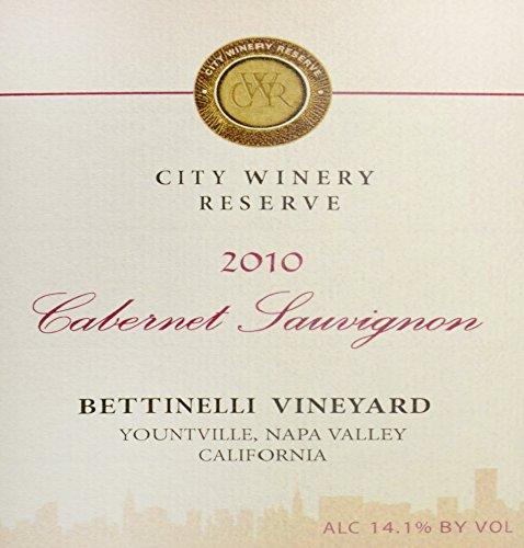 2010 City Winery Napa Bettinelli Vineyard Reserve Cabernet Sauvignon 750 Ml