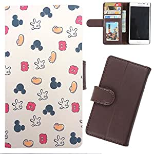 DooDa - For Sony Xperia C3 / C3 Dual PU Leather Designer Fashionable Fancy Wallet Flip Case Cover Pouch With Card, ID & Cash Slots And Smooth Inner Velvet With Strong Magnetic Lock