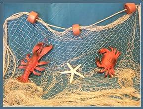 12 X 9 TAN Fishing Net Netting Display Rope Starfish Beach Theme