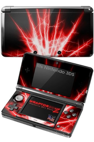 Nintendo 3DS Decal Style Skin - Lightning Red