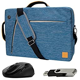 VanGoddy Blue Slate 3-in-1 Hybrid Laptop Bag for RCA Cambio / Pro10 Edition II / 11 Maven Pro / 10 Viking Pro / 11\