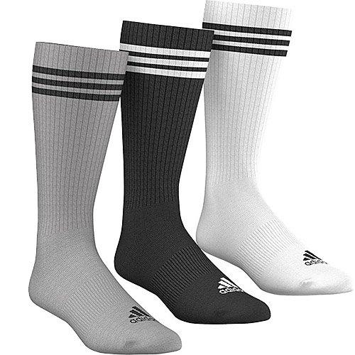 Adidas 3S Knee Hc 3Pp Calzini, Bianco/Nero/Grigio (Bianco/Nero/Brgrin), 39/42