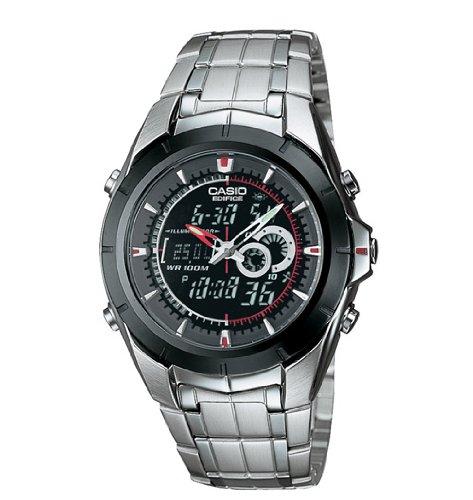 Casio Men's EFA119BK-1AV Ana-Digi Edifice Thermometer Bracelet Watch