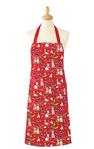 Dogs Christmas Double Oven Glove and Apron Set