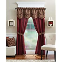 5-Piece Better Homes and Gardens Medallion Curtain Panel Set (Brick)