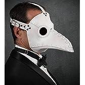 レザー製 ペストマスク ホワイト Plague Doctor mask