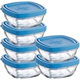 Duralex Lys 20-Ounce Square Bowl with Lid, Set of 6