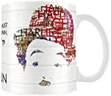 Posterboy 'Charlie Chaplin Brick' Ceramic Mug (White)