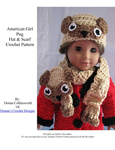 American Girl Doll Pug Hat and Scarf Crochet Pattern