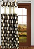 Homefab India Designer Bricks Coffee Curtain(HF470)