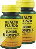 Health Plus Junior B Complex Children's Vitamin B Supplement - 2 x 30 Tablets (60 tablets)