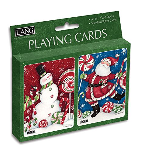 Lang Peppermint Christmas Playing Cards by Susan Winget (Set of 2)