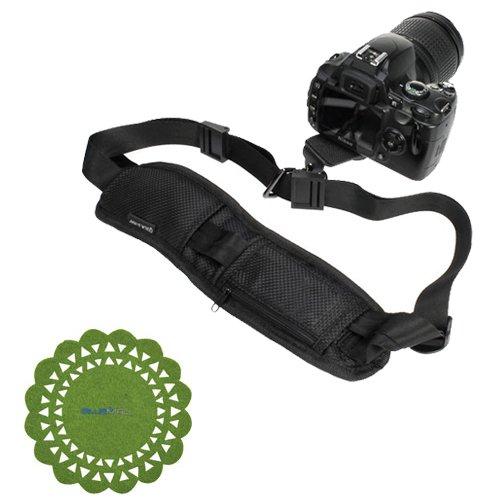 Birugear Black Dslr Camera Neck Shoulder Belt Strap With Quick Setup Plate + Cup Pad For Fuji Finepix X100S, S8200, S4200, S4500, Sl300, Sl1000, Hs25Exr / Hs28Exr, Hs30Exr, Hs50Exr, S3200, Hs20Exr, S4000, S2950; Panasonic Dmc-G6, Gh3K, Lz20, Fz70K, Fz60K,